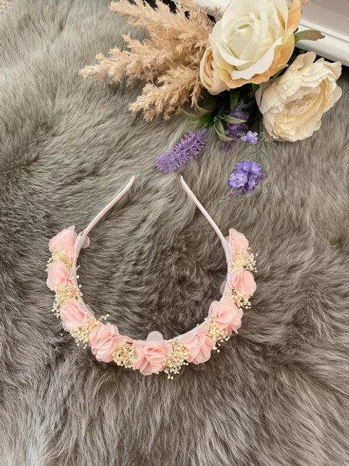 Hairband Floral Pink