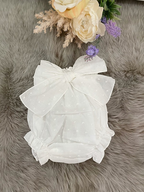Bloomer Ivory Tulle Bow