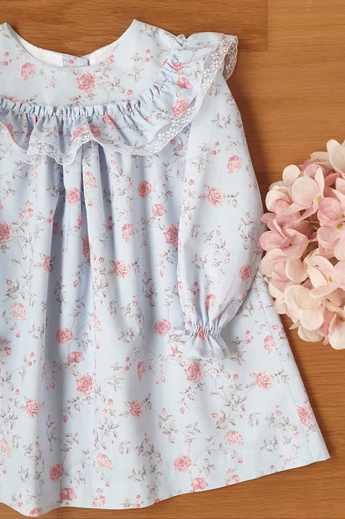 Night Gown Floral Blue