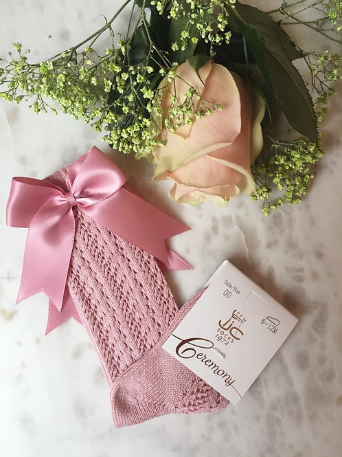 Romantic Knee Socks Pink