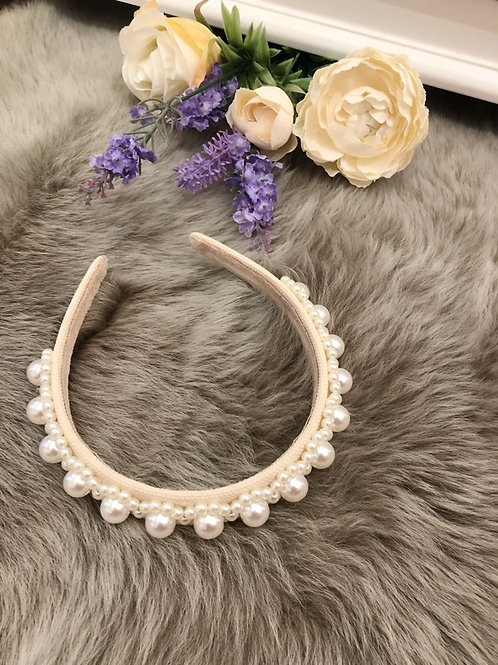 Hairband Ivory Pearls