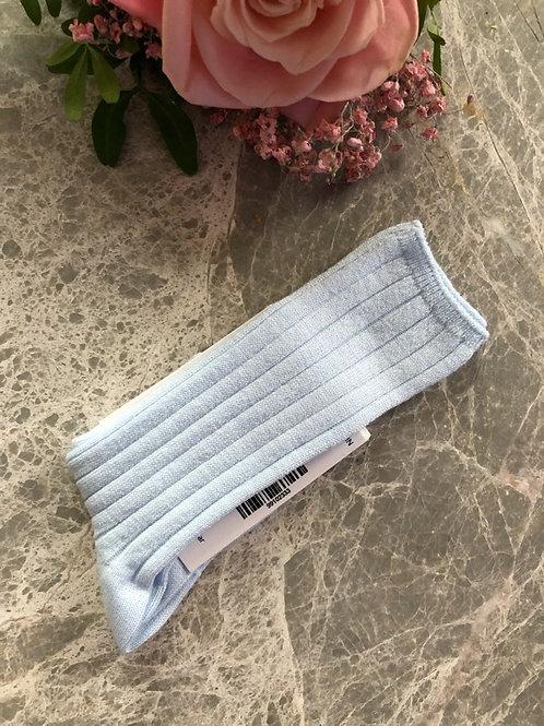 Rib Knee Socks Soft Blue