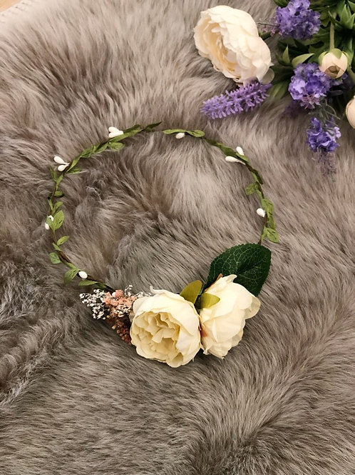 Flower Crown Ivory Peony