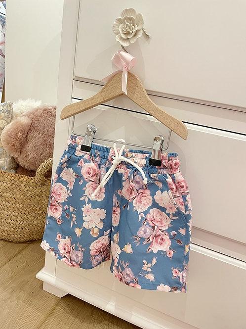 Swim Shorts Floral Blue