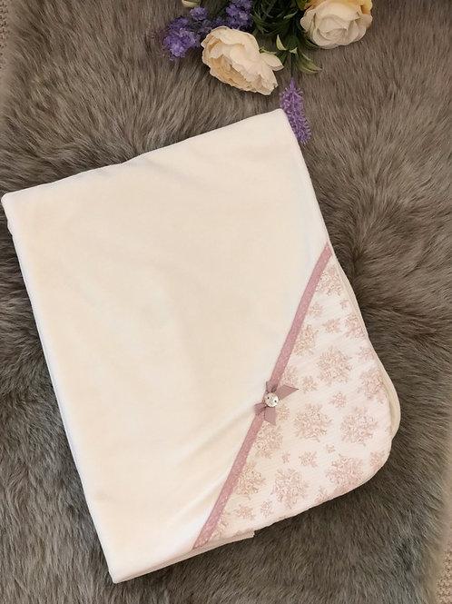 Cream & floral pink Blanket