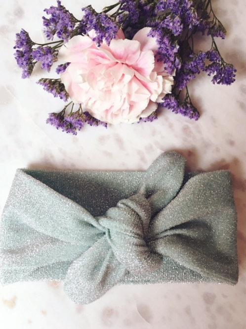 Knotted Headband Glitter Mint