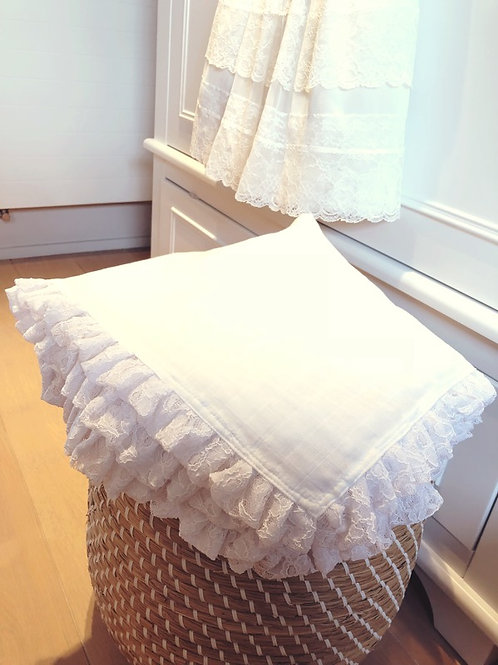 Baby Luxury Swaddle White