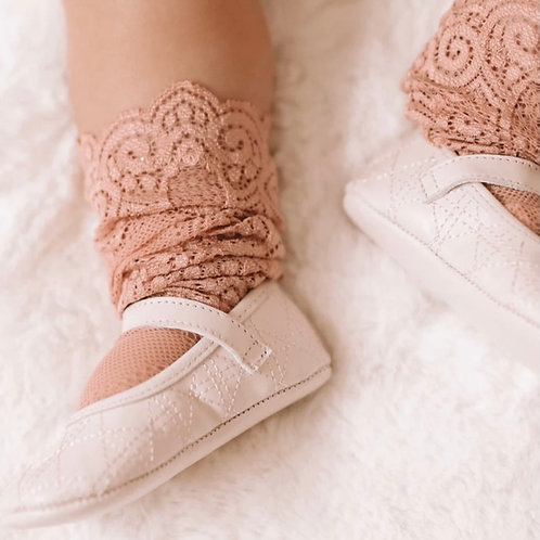 Dusty Pink Lace Socks