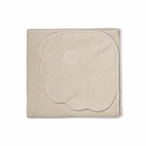 Hooded Towel Shell Beige