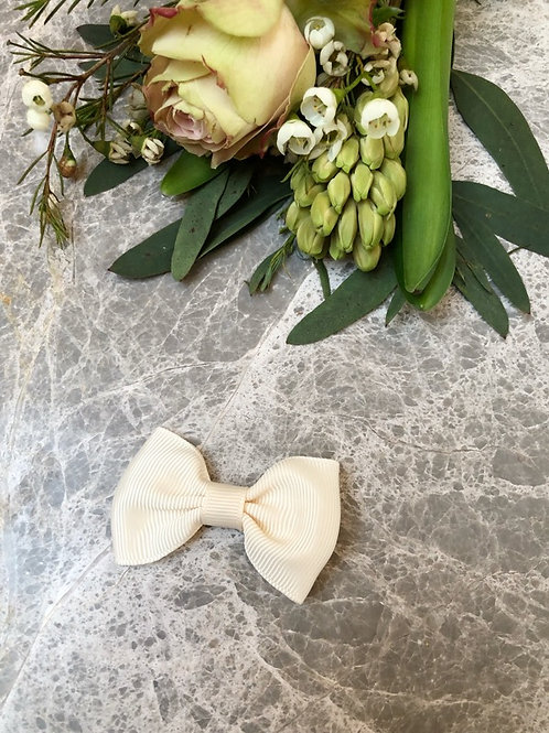 Bow Grosgrain Ivory mini
