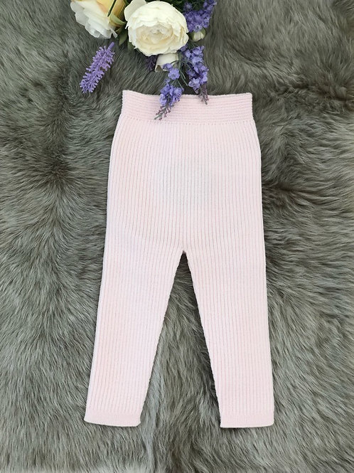 Soft Pink Knitted Leggings