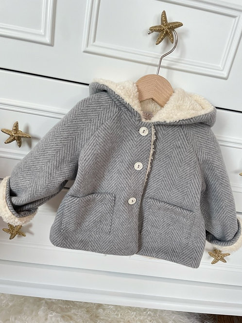 Paz Coat Grey Teddy