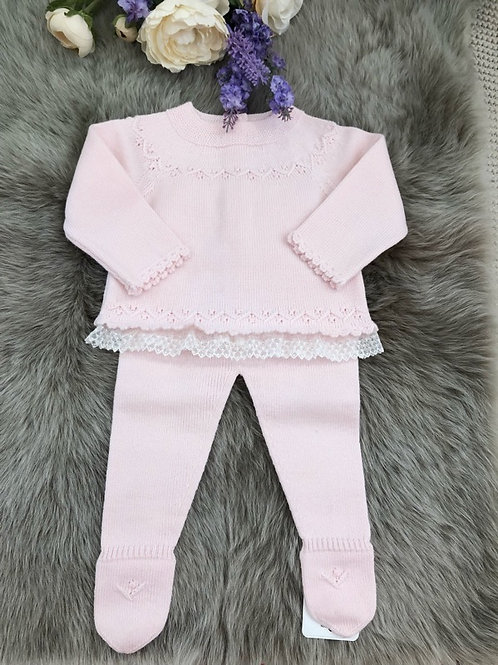 Set Knitted Soft Pink