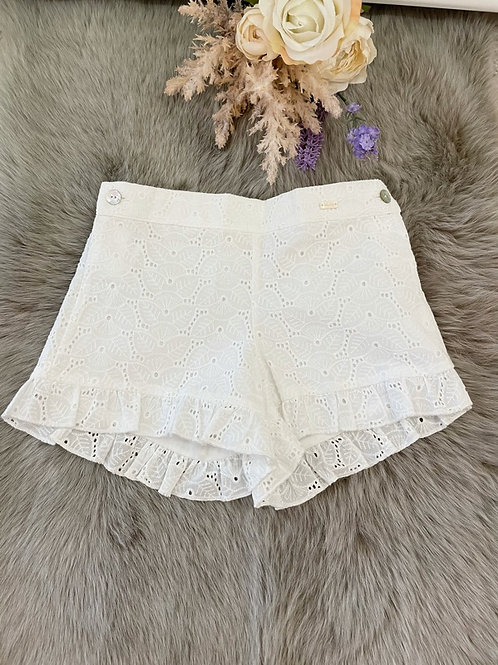 Shorts White Embroidery