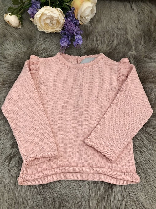 Sweater knitted Pink Frill
