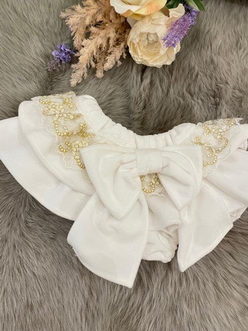 Bloomer Velvet Ivory Lace