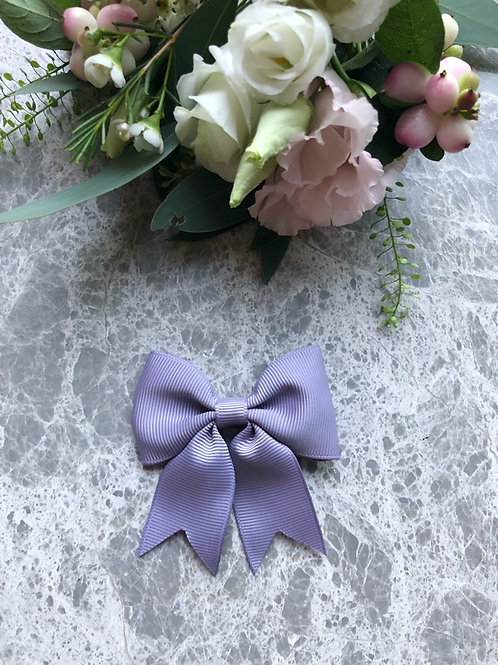 Bow Grosgrain Lila with Tails