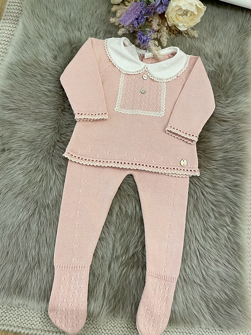 Set Knitted powder pink