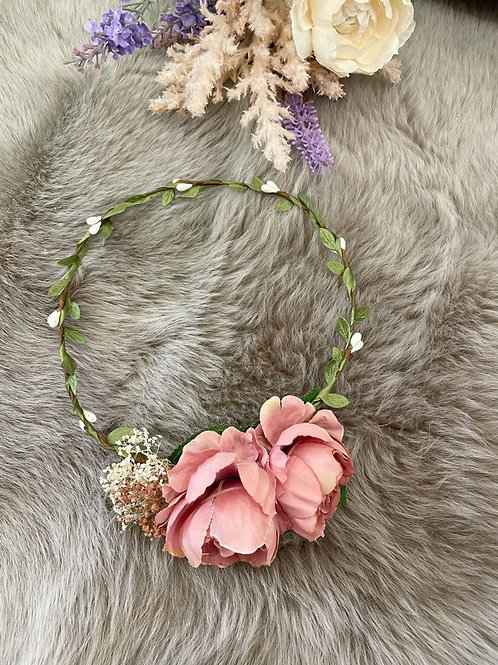 Flower Crown Pink Peony