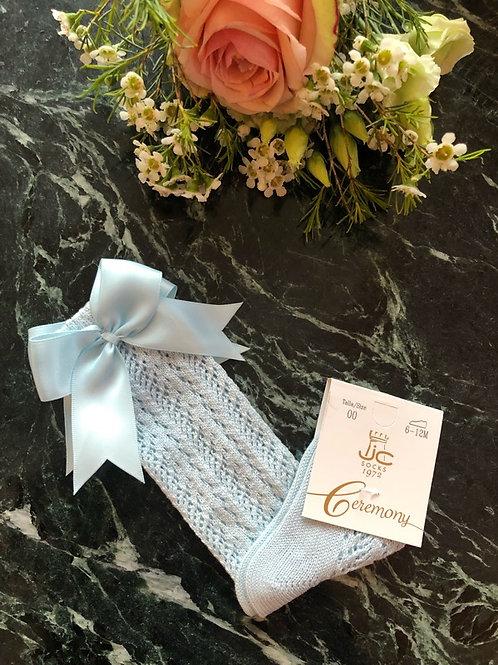 Romantic Knee Socks Ice Blue