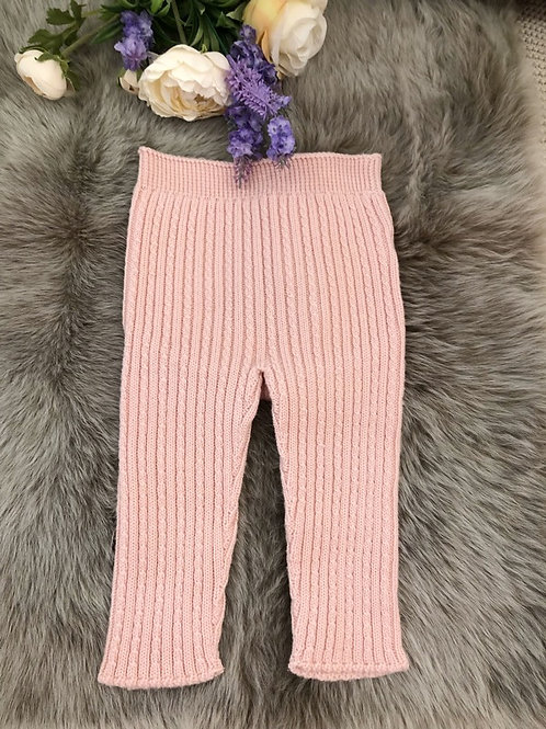 Cable Leggings Pink