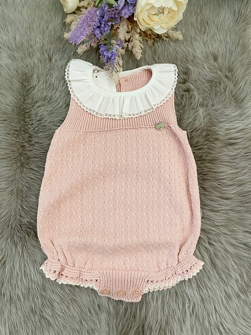 Romper knitted Powder Pink