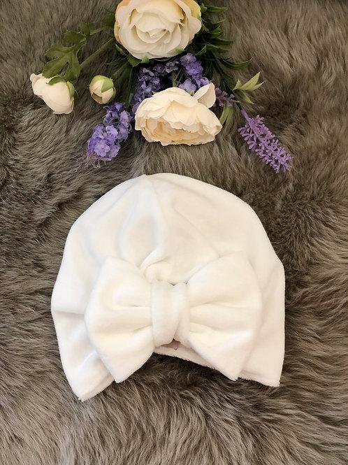 Turban Hat Velvet Ivory