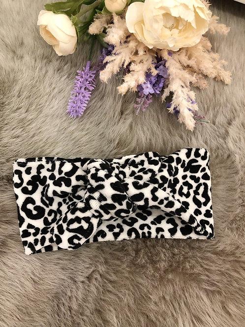 Knotted Headband Leopard velvet
