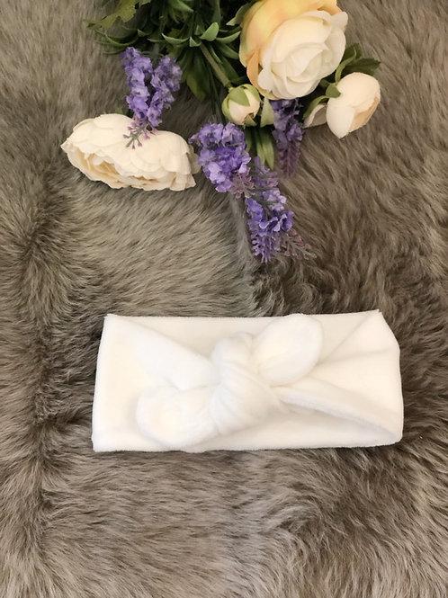 Knotted Headband Velvet Ivory