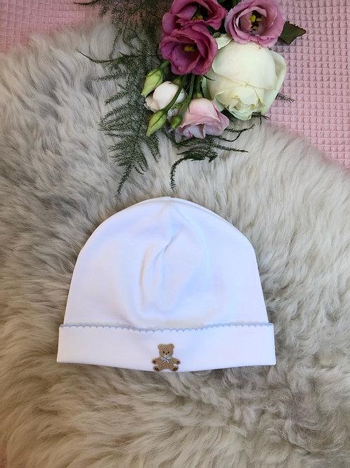 Baby Hat Teddy Bear Blue