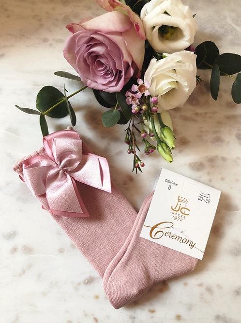 Classic Knee Socks Shiny Pink