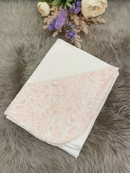 Cream  Tangerine Blanket