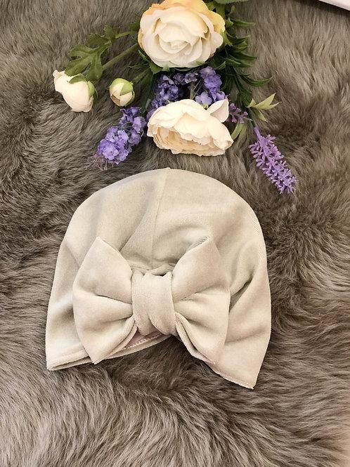 Turban Hat Velvet Beige