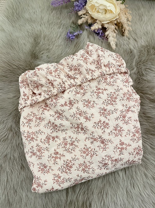 Pink Floral Fitted Sheet
