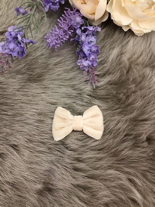 Velvet Bow Ivory mini