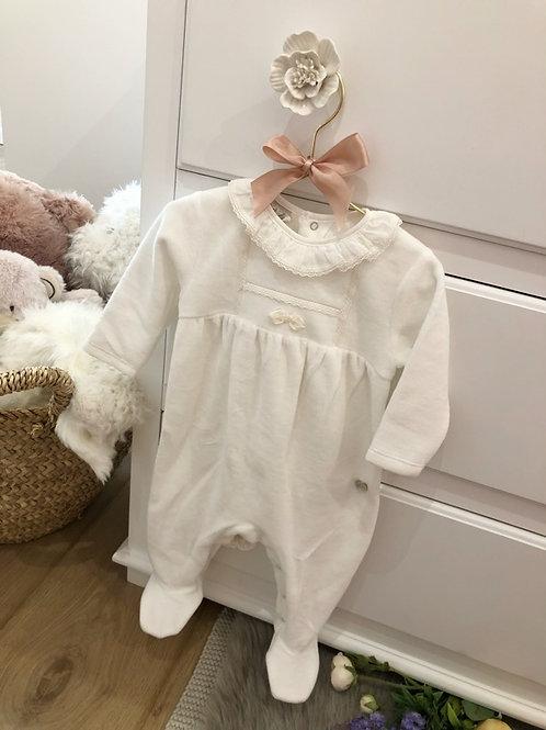 Pyjamas Velours Ivory