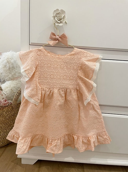 Dress Lily Pink Embroidery