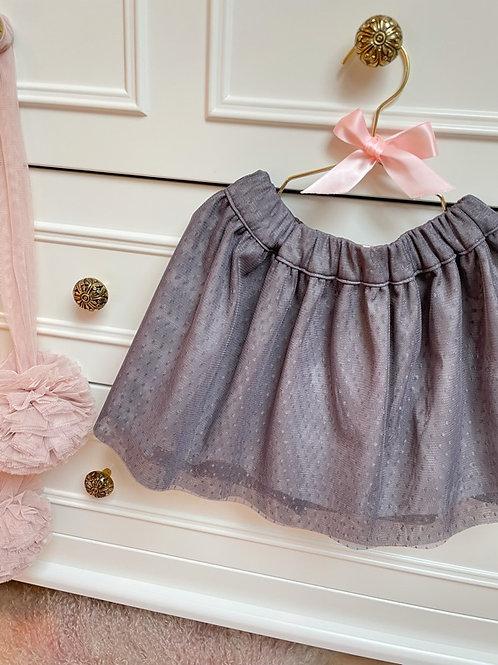 Grey Tulle Skirt Mini