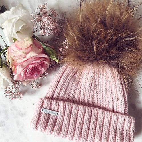 Pompom Hat Pink