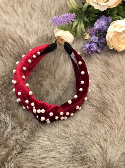 Hairband Velvet Burgundy
