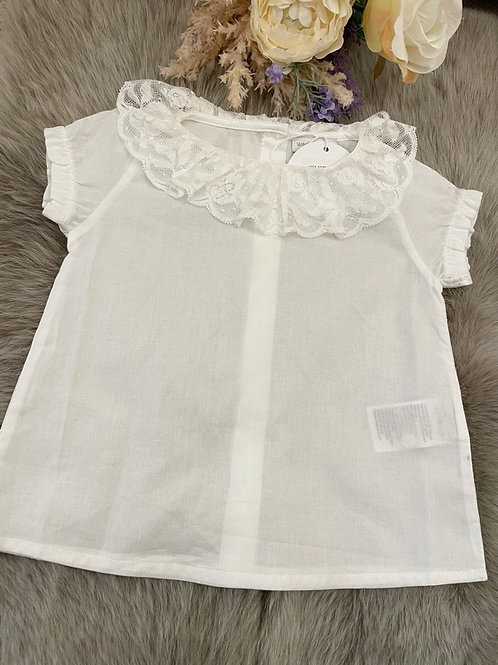 Blouse Ivory Lace Collar