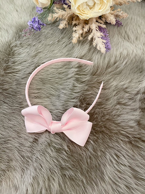 Hairband Pink Bow