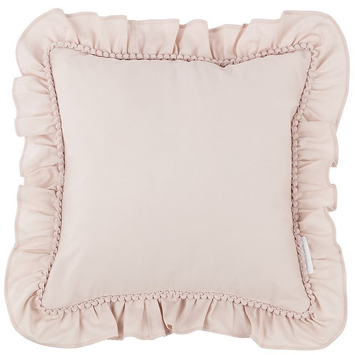 Pillow with Ruffles Nude