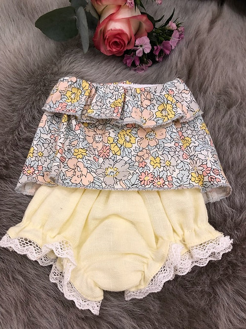 Doll Set Floral Yellow
