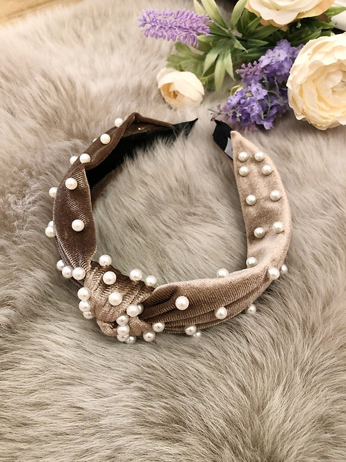 Hairband Velvet Chocolate