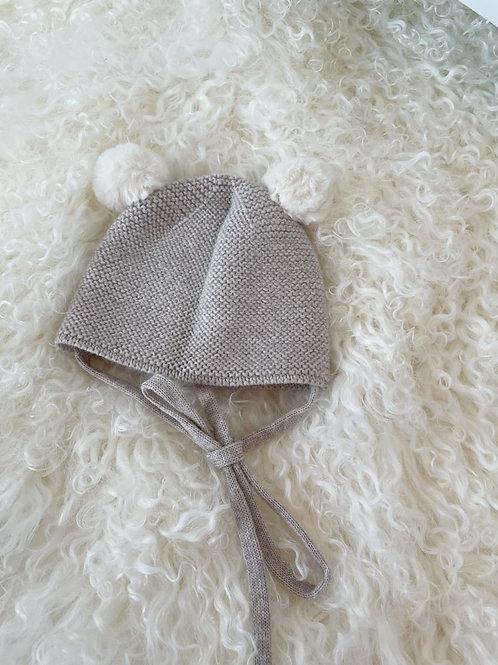 Paz Knitted Baby Hat Beige