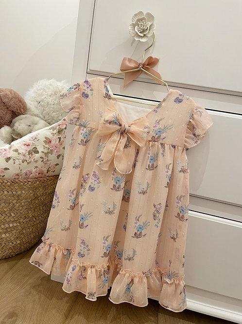 Dress Floral Peach