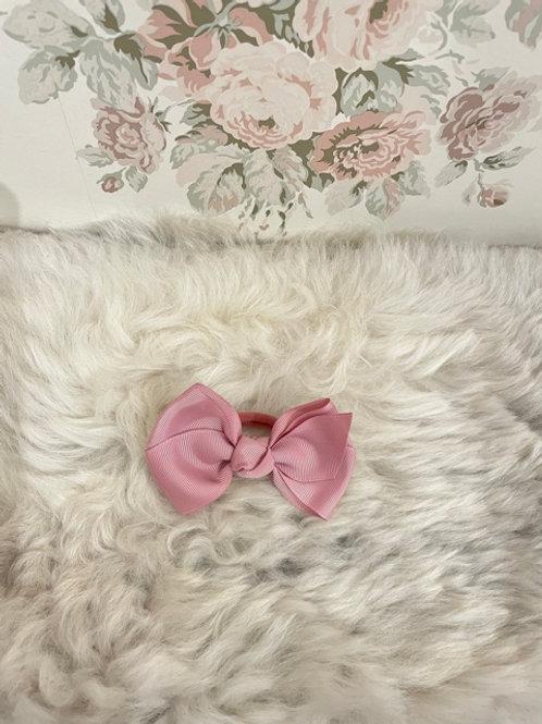 Grosgrain Bow Elastic Pink