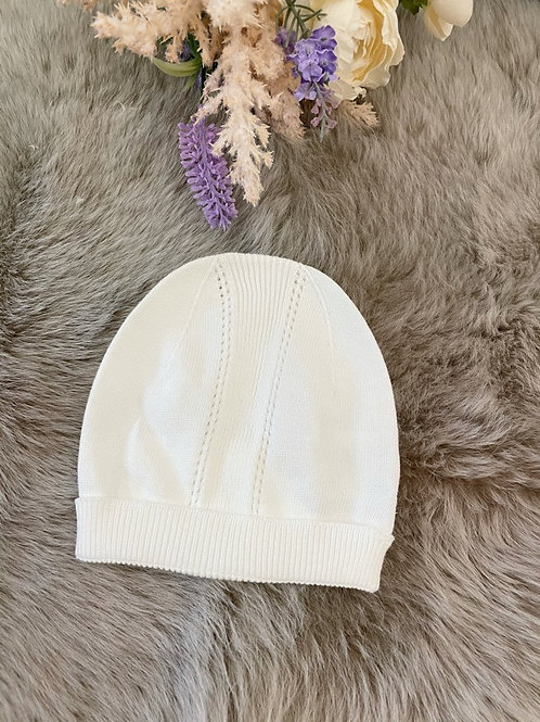Knitted Baby Hat Ivory