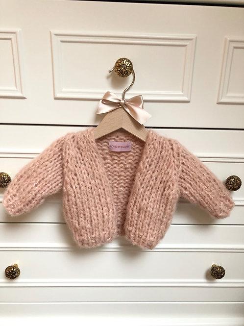Knitwear Baby Cardigan Peach